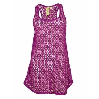 Miken Women's Crochet Racerback Dress Cover ups