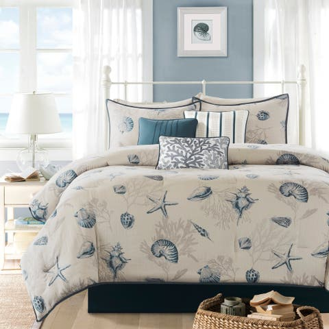 Madison Park Nantucket Cotton Printed 7-piece Comforter Set