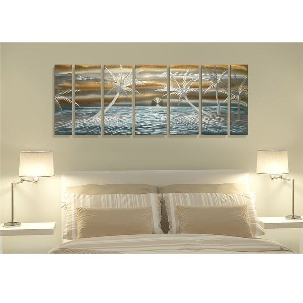 Statements2000 Tropical Metal Wall Art Ocean Beach Sunrise Painting by Jon Allen - Dawn A Breaking