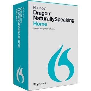 Nuance K409A-G00-13.0 Nuance Dragon NaturallySpeaking v.13.0 Home - 1 User - Voice Recognition Box Retail - DVD-ROM - PC -