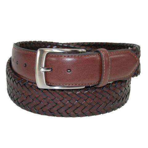 Danbury Men's Comfort Stretch Leather Braided Belt