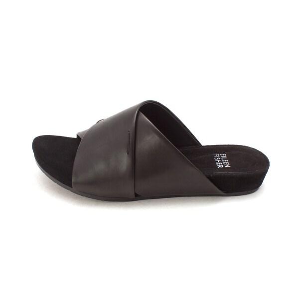 Eileen Fisher Womens Hippie Leather Open Toe Casual Slide Sandals - 5.5