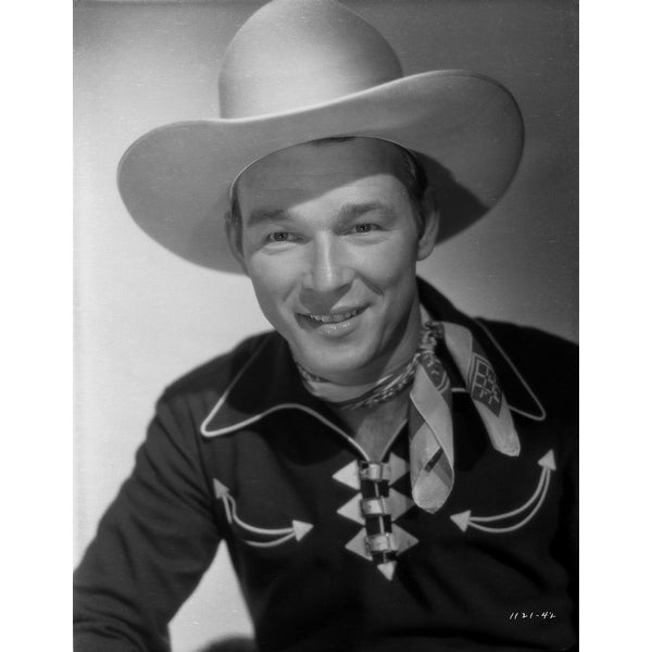 54bb1bc4080df Shop Roy Rogers Posed in Portrait with Cowboy Hat Photo Print - Free  Shipping On Orders Over  45 - Overstock - 25470100