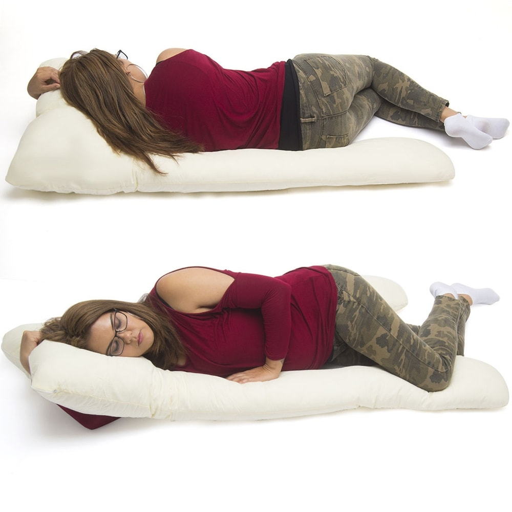 U Shape Total Body Pillow Pregnancy Maternity Comfort Support Cushion Sleep - Beige (Beige)