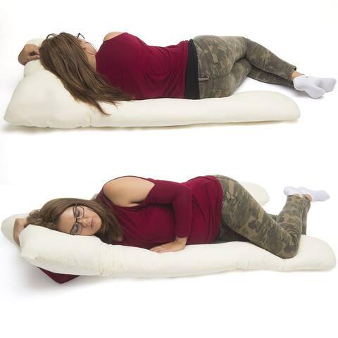 U Shape Total Body Pillow Pregnancy Maternity Comfort Support Cushion Sleep - Beige