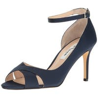 Nina Womens FLO Open Toe Ankle Strap D-orsay Pumps