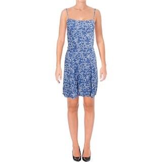 Denim & Supply Ralph Lauren Womens Sundress Floral Print Criss-Cross Back