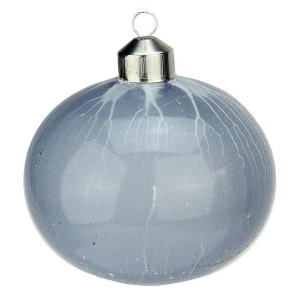 "4"" Winter Light Blue Ice Vein Gourd Shaped Christmas Ornament"