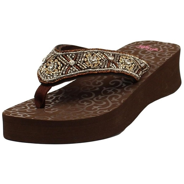 Blazin Roxx Western Shoes Womens Sally Flip Flops Brown