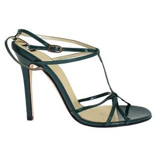Dolce & Gabbana Green Leather Sandals Pumps - 39.5
