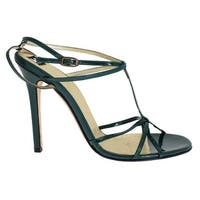 Dolce & Gabbana Green Leather Sandals Pumps - 39.5