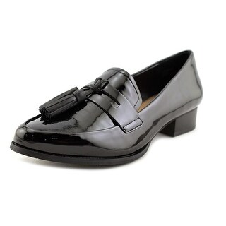 Tahari Looker Women Pointed Toe Patent Leather Black Loafer