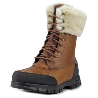 Lauren Ralph Lauren Quinta Round Toe Leather Winter Boot