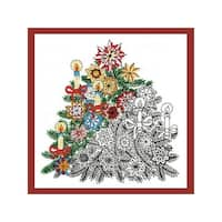 Design Works Zenbroidery Fabric 10x10 ChristmsTree