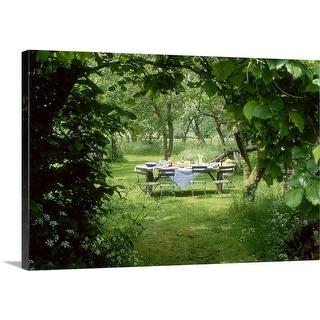 Premium Thick-Wrap Canvas entitled Rustic table