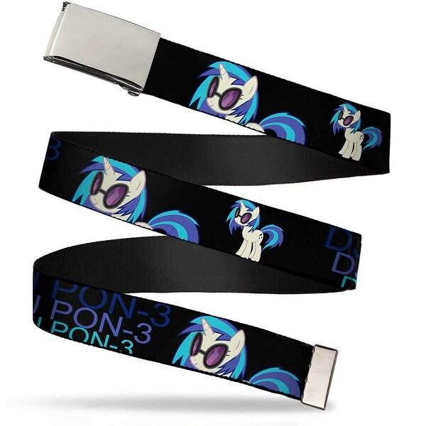 Blank Chrome Buckle DJ Pon 3 Black Blues Webbing Web Belt