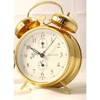 Sternreiter Double Bell Mechanical Wind Alarm Clock (Gold)