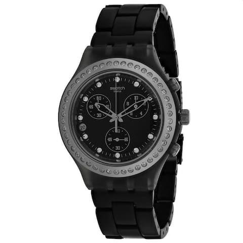 Swatch Women's SVCM4009AG 'Irony' Black Aluminum Watch