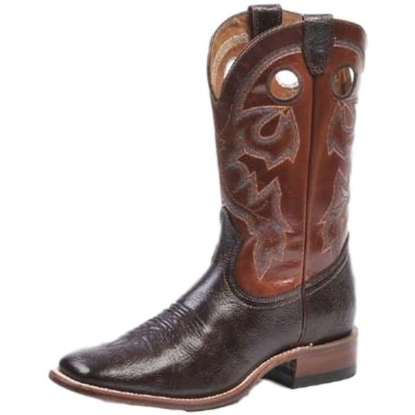 Boulet Western Boot Men Cowboy Shoulder Taurus Noce Organza Brown
