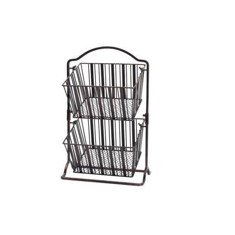 Gourmet Basics By Mikasa Band Stripe 2 Tier Hanging Basket