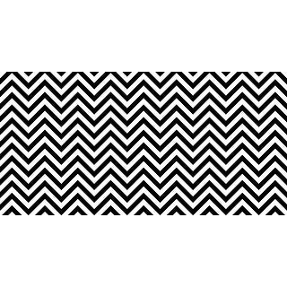 Fadeless Designs Paper Roll, Chic Chevron Black and White, 48 Inches x 12 Feet