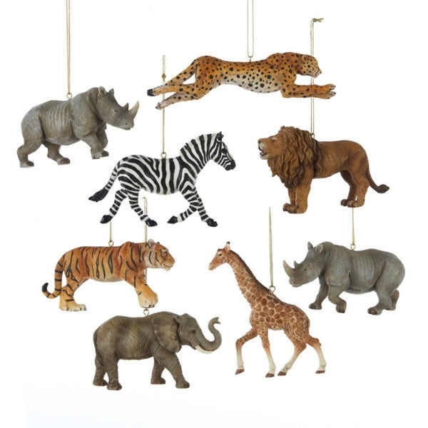 "4.5"" Wild Elephant Safari Animal Christmas Ornament"