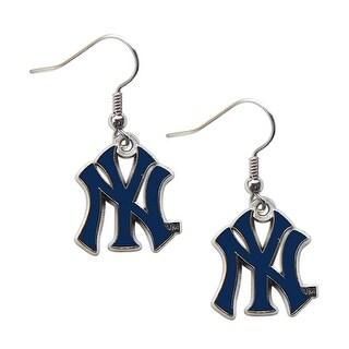 New York Yankees Dangle Logo Earring Set MLB Charm Gift