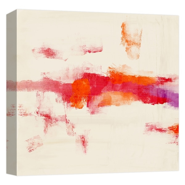 "PTM Images 9-124685 PTM Canvas Collection 12"" x 12"" - ""Red Mist"" Giclee Abstract Art Print on Canvas"