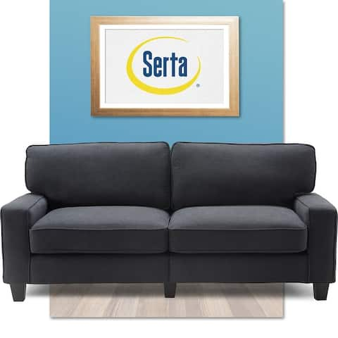 "Serta Palisades Upholstered 78"" Sofas for Living Room Modern Design Couch, Straight Arms, Soft Upholstery, Tool-Free Assembly"