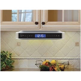 kitchen radio under cabinet. Under cabinet Bluetooth Digital Radio IKB333S  Silver Radios Clock For Less Overstock com