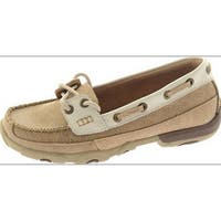 Twisted X Casual Shoes Womens Driving Moc Dusty Tan White