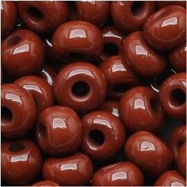 Czech Seed Beads 6/0 Warm Brown Opaque (1 Ounce)