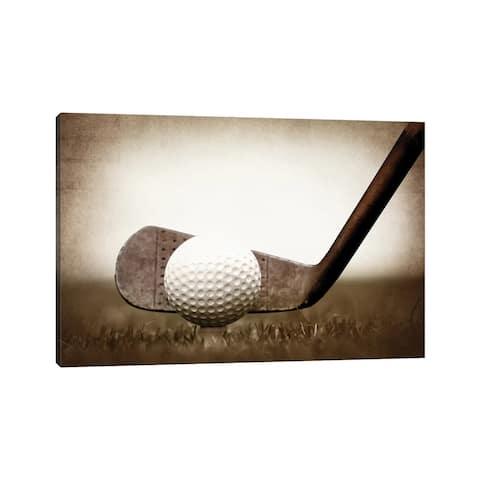"iCanvas ""Golf Iron Vintage Grass"" by Saint and Sailor Studios Canvas Print"