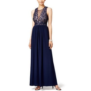 Nightway Sleeveless Lace A-Line Evening Gown Dress