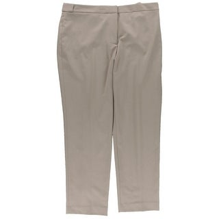 Calvin Klein Womens Petites Khaki Pants Woven Stretch - 14P