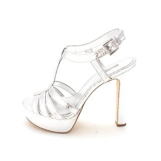 56a8b7a5c61 Michael Michael Kors Womens Catalina Leather Open Toe Special Occasion  Slingb.