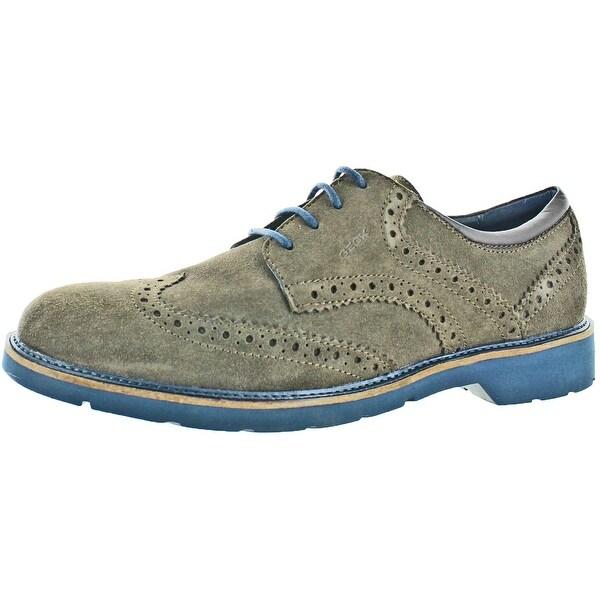 Geox Garret Men's Brogue Wingtip Oxford Dress Shoes