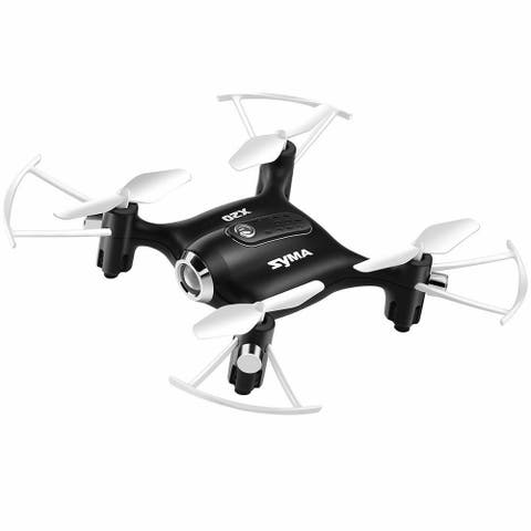 Syma X20 Pocket Drone 2.4Ghz Mini RC Quadcopter Headless Mode Altitude Hold White/Black