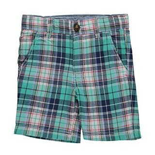 Carter's Little Boys' Plaid Flat-Front Shorts 2-Toddler - Multicolored