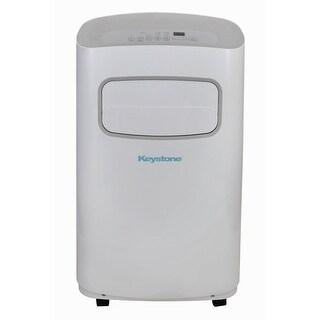 Keystone KSTAP14CG 14,000 BTU 115V Portable Air Conditioner with Remote Control, White/Gray - White