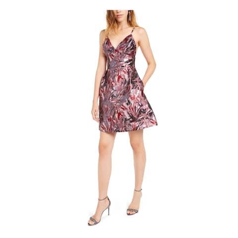 LAUNDRY Purple Spaghetti Strap Short Dress 10