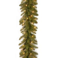 9 ft. Dunhill(R) Fir Garland with Clear Lights - green