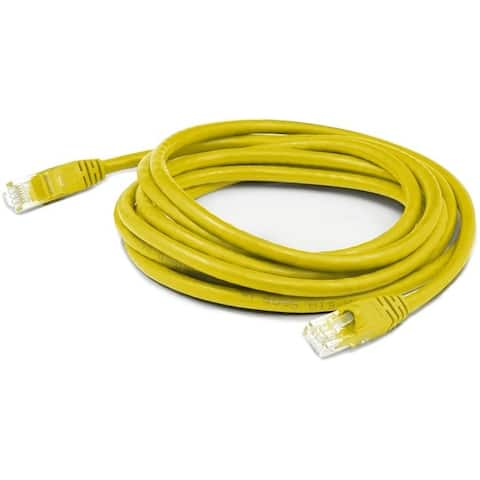Addon add-25fcat6sp-ylw 25ft rj-45 m/m patch cable