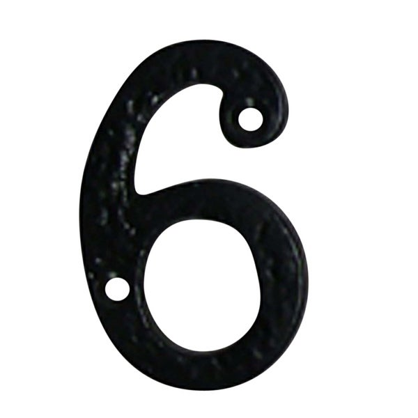 Number 6 Or 9 House Black Wrought Iron 4h