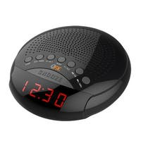 QFX AM/FM LED  Alarm Clock Radio - Black