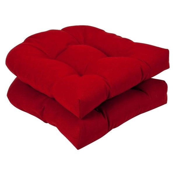 Shop Set Of 2 Outdoor Patio Wicker Chair Seat Cushions Venetian