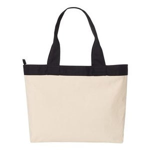 HYP 15.3L Zippered Tote - Natural/ Black - One Size