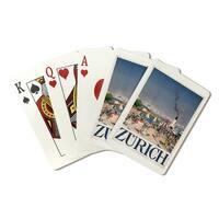 Zurich (Baumberger) Vintage Poster (Poker Playing Cards Deck)