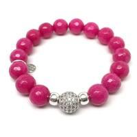 "Fuchsia Jade Radiance 7"" Bracelet"