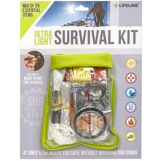Lifeline Ultra-Light Weather-Resistant Survival First Aid Kit - 29 Pieces - Green